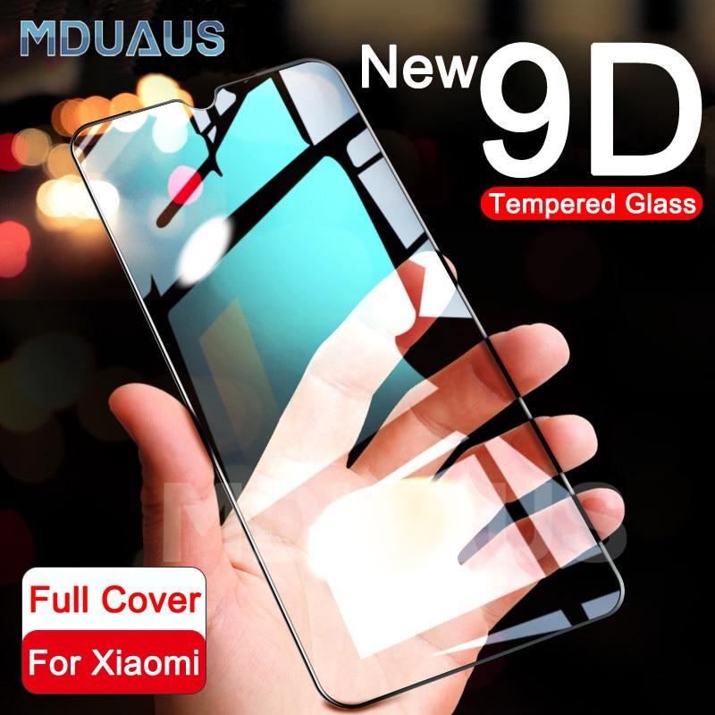 9D Full Cover Protective Glass For Xiaomi Mi 9 CC9 CC9E Mi 8 SE A1 A2 A3 Lite Screen Protector Film Pocophone F1 Tempered Glass