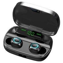 S11-TWS fone de ouvido bluetooth 5.0 sem fio dupla in-ear display digital estéreo esportes ipx7 à prova dwaterproof água fones de ouvido 3500 mah bateria