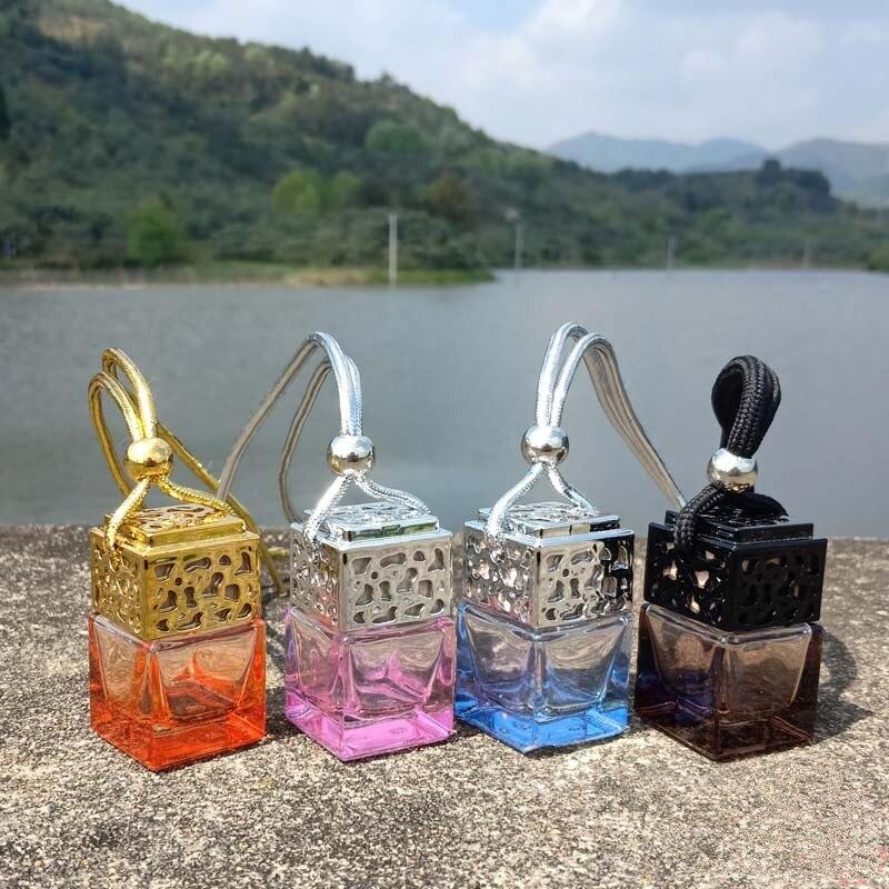 Wholesale Car Air Freshener Hanging Glass Bottle Auto Perfume Diffuser Bottle For Essential Oil Car Perfume Bottles decoration