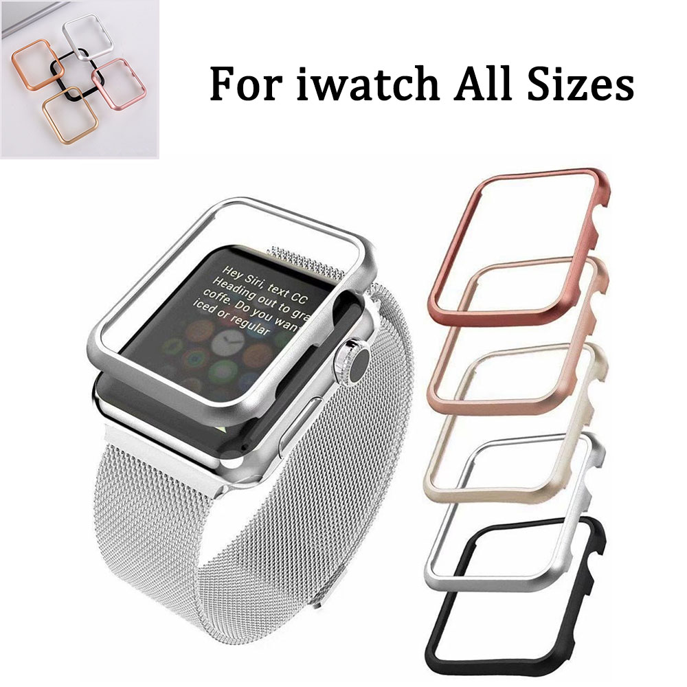Metal <font><b>Watch</b></font> Case for <font><b>Apple</b></font> <font><b>Watch</b></font> <font><b>38</b></font> 42mm Series 1 2 <font><b>3</b></font> Cover Protective Shell for iWatch 4 5 40 44mm Protector Cover Accesiores image