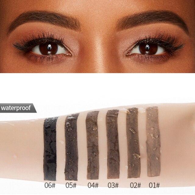 Natural 6 Colors Liquid Dyeing Eyebrow Cream Set Waterproof Durable Brown Tint Eyebrow Henna Mascara Eyebrows Paint Makeup 1