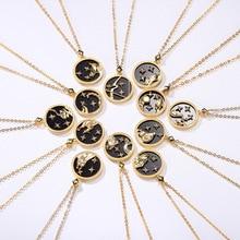 Silvology青砂石 12 星座ペンダントネックレス 925 スターリングシルバーエレガントなネックレス女性のための 925 誕生日の宝石