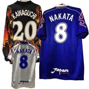 classic 1998 Retro Nakata Japan jerseys Nakayama Namami Ihara Yamaguchi Home away T-shirt TEE High quality goalkeeper Kawaguchi