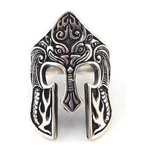 FD LK Classic Spartan Mask Warrior Ring Scandinavian Ring Viking Totem Mask Amulet Ring Men's Fashion Jewelry Jewelry