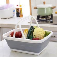 High-quality Multifunctional Folding Portable Storage Basket Household Kitchen Vegetables Fruits Washing
