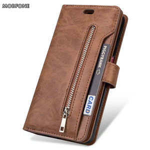Image 4 - Folio Book Leather Wallet Case on Oneplus 5T Retro Diary Flip Cover for Oneplus5T 5 T Zipper 9 Card Slots Stand Fundas Cases