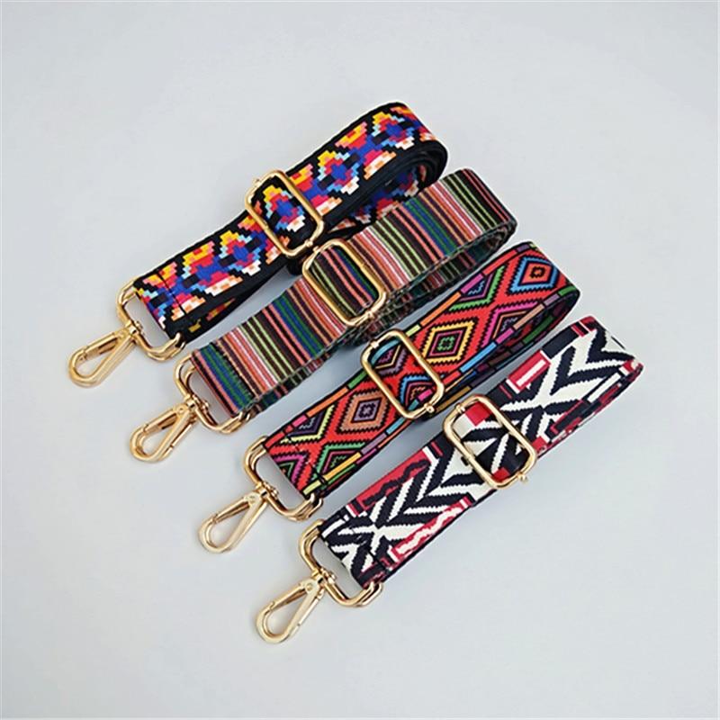 Colorful Bag Strap Belt Flower Replacement Wide Straps For Crossbody Women Bag Accessories Handle Nylon Shoulder Strap Bag W219