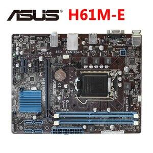 ASUS H61M-E 100% Original Motherboard DDR3 16G H61ME LGA 1155 For Intel H61 Desktop Mainboard PCI-E X16 Systemboard VGA Used