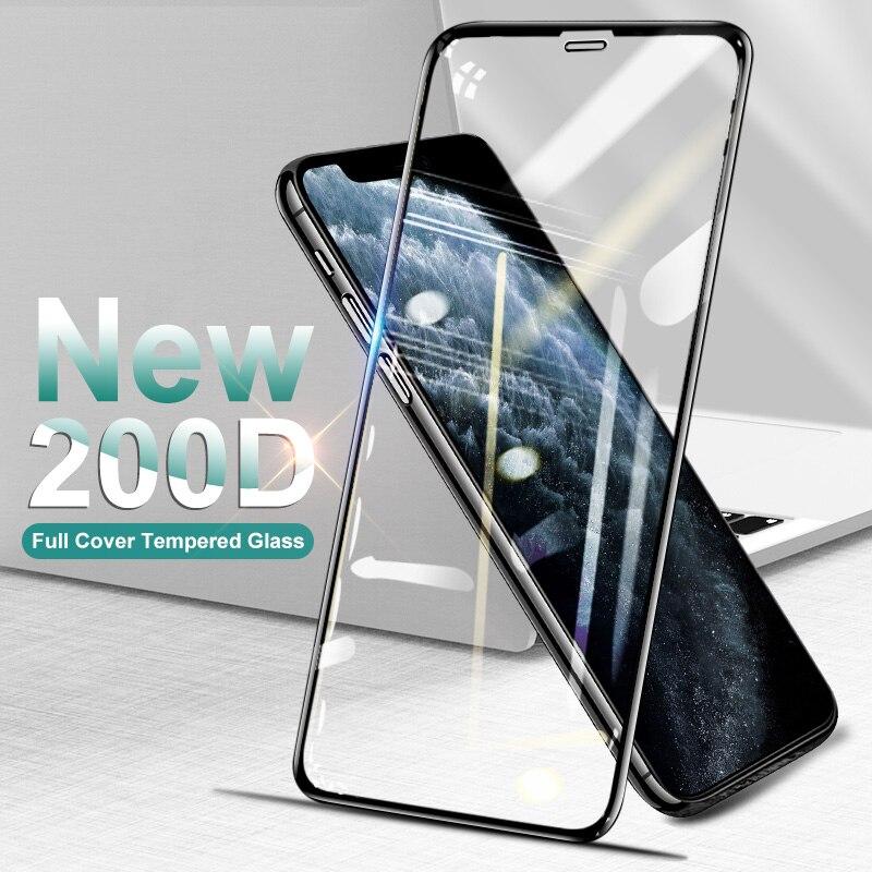 200D изогнутое закаленное стекло для iPhone 6 6s 7 8 Plus X XS Защитная пленка для экрана для iphone 11 Pro Max XR|Защитные стёкла и плёнки|   | АлиЭкспресс