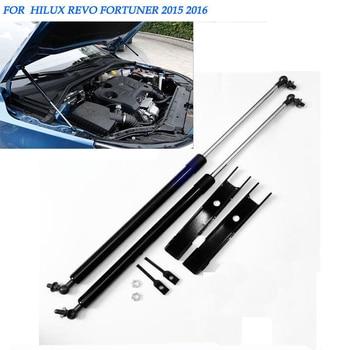 2pcs Car Front Bonnet Hood Lift Gas Shock Struts Support for Toyota Hilux REVO 2015 2016