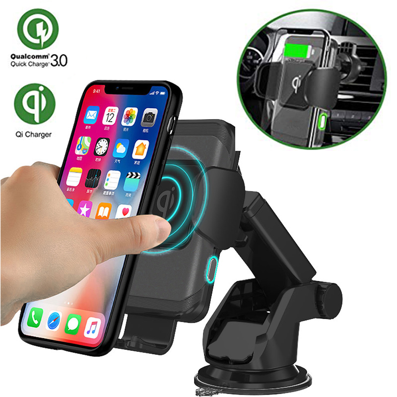 Auto Car Air Vent Adjustable Wireless Phone Charger Holder Mount 360° Rotation