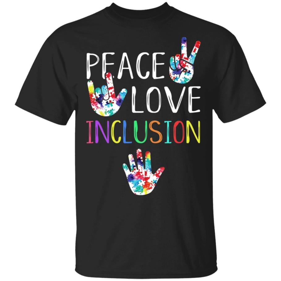 De los hombres de paz amor inclusión Sped escuadrón especial profesor Ed camiseta tamaño M-3Xl envío gratis Tops Tee camiseta