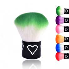 1pc Nail Art Tool Colorful Soft Dust Remove Cleaning Brush for Gel Manicure Tools Cleaner Brushes