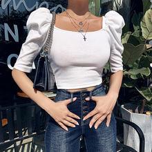 Женская рубашка с рукавами пупками весна лето