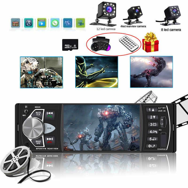 Autoradio 1 Din Bluetooth Radio Lettore SD MP5 Coche auto registratore radio Estereo Poste Para oto teypleri auto Radio auto lettore