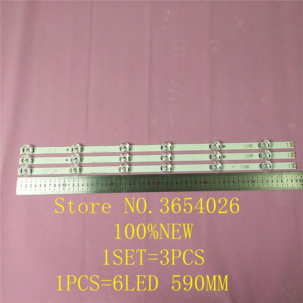 New 3 PCS*6LED 590mm LED Backlight Strip Bar Compatible For LG 32LB561V UOT A B 32 INCH DRT 3.0 32 A B 6916l-2223A 6916l-2224A