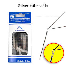 Needles Embroidery Sewing Hand Darning Stainless-Steel 12pcs Household-Tool Sliver Multi-Size-Side-Opening