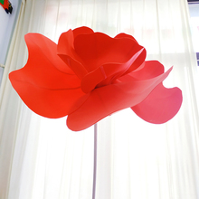 Large 90cm Foam Poppies Flower Head Wall Hang Artificial PE Display  Wedding Home Background Festive Stage Decor