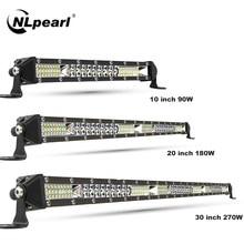NLpearl Slim Spot Flood LED Bar Off Road 12V 24V LED Light Bar/Work Light for 4x4 Truck ATV Boat Lada Tractor Barra LED Lightbar