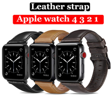 цена на Leather strap for Apple watch band 44mm 40mm 42mm 38mm correa iwatch series 4 3 2 1 watchband bracelet wrist belt Accessories