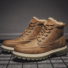 Botas de inverno para homens de pelúcia quente ankle booties sapatos masculinos homem chaussure homme calçado masculino tênis plus size 2021 bnm1