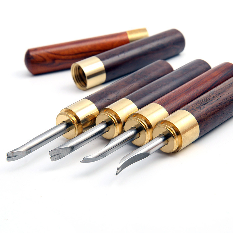 0.6mm-1.4mm Professional Edge Beveler for DIY Leather Craft Keen Edge Cutting Tool 0.6mm