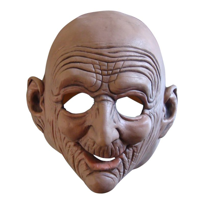 Latex Old Man Scary Mask Horror Cos Rubber Mask for Face Halloween Costume Party Gift Prop Novelty Masks in Party Masks from Home Garden