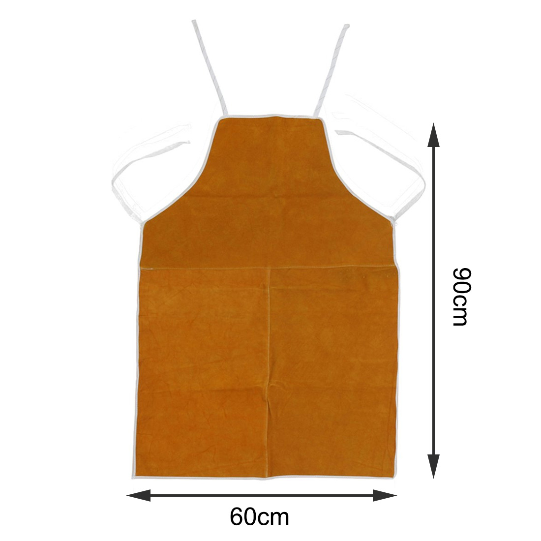 Anti-scalding Apron Cow Leather Aprons Welding Heat Insulation Protection Welders Blacksmith High Temperature Apron 93x64cm