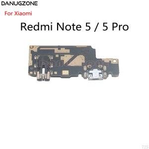 Image 2 - 10 pièces pour Xiaomi Redmi NOTE 5 PRO NOTE5 Port de quai USB connecteur de prise de Charge carte de Charge câble flexible avec prise Audio pour écouteurs