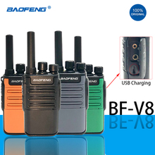 2021 Baofeng Mini BF V8 Two Way Ham Radio Handheld uhf Blue Green Orange Intercom hf Transceiver BAOFENG BF V8 Walkie Talkie New