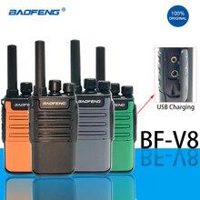 Hf Transceiver Walkie-Talkie Ham-Radio Orange Handheld Mini Two-Way Baofeng Bf BF-V8