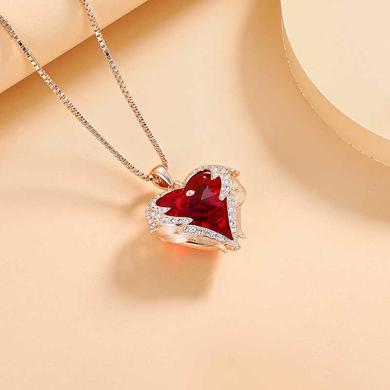 Cde Vrouwen Rose Gouden Ketting Versierd Met Kristallen Van Swarovski Fijne Hanger Ketting Sieraden Valentijnsdag Geschenken