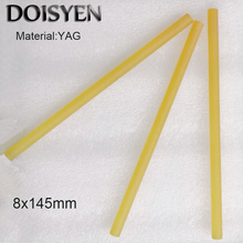 1064nm Yellow laser Crystal Yag Rod D8mm*Length:145mm Nd:Ce:Yag Crystal for laser cutting/welding/engaving Machine Free Shipping good quality laser welding machine 1064nm nd yag rod 4mm dia 135mm length nd yag laser rod