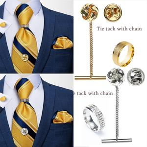 Mens Jewelry Shirts Tie Tack For Men Fashion Collar Pin Copper Metal Brooch Lapel Pin For Men Shirt Suit Accessories DiBanGu