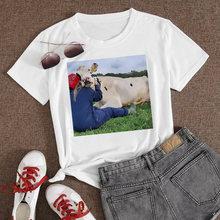 Облегают корова Лидер продаж мир футболка женские туфли положительный