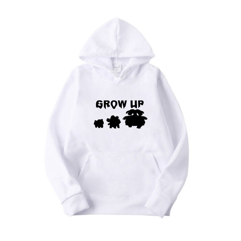 Funny Women White Casual Print Hoodie Cotton Long Sleeve Pullover Personality Hooded Sweatshirt Autumn Winter Hooded Tops in Hoodies amp Sweatshirts from Women 39 s Clothing