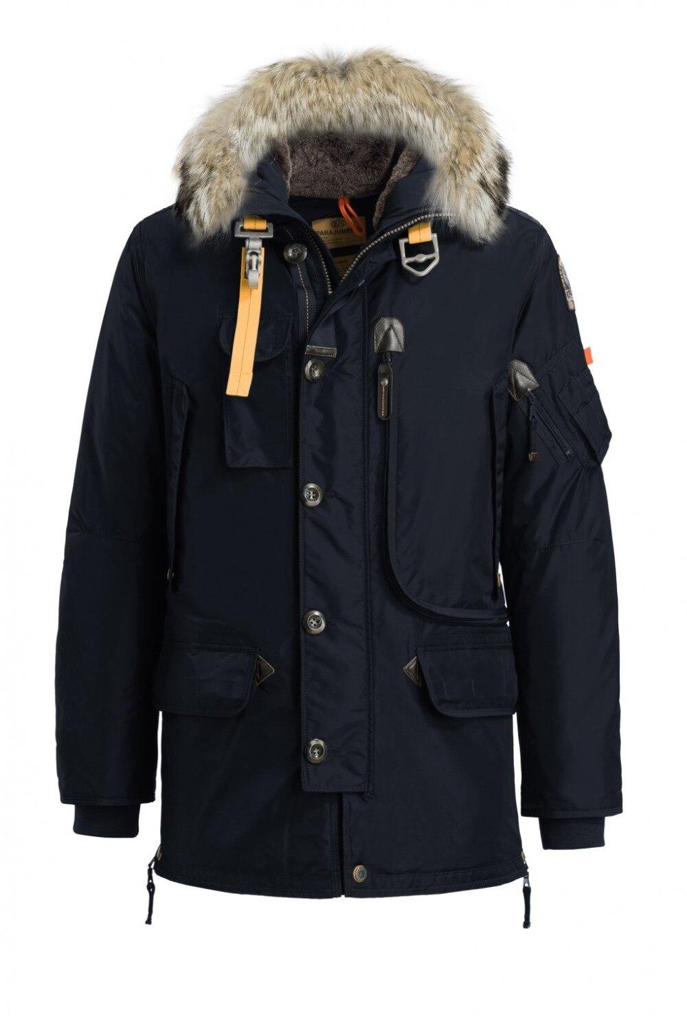 Moda masculina longo inverno quente kodiak casual para baixo inverno casaco homem outerwear frete grátis casacos