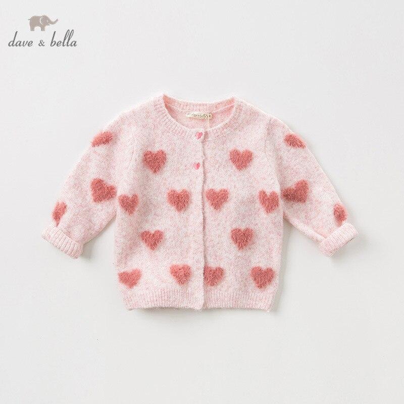 DBZ11886 dave bella Модный Кардиган для маленьких девочек, милый вязаный свитер для малышей|Свитера| | АлиЭкспресс
