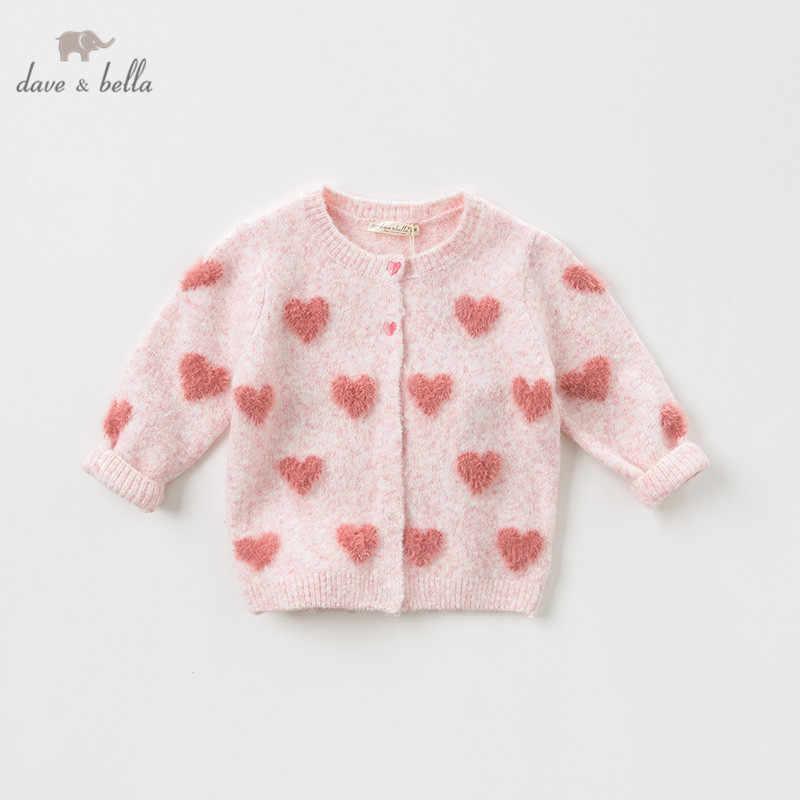 Dbz11886 데이브 벨라 가을 유아 아기 소녀 패션 사랑 카디건 아이 유아 코트 어린이 귀여운 니트 스웨터