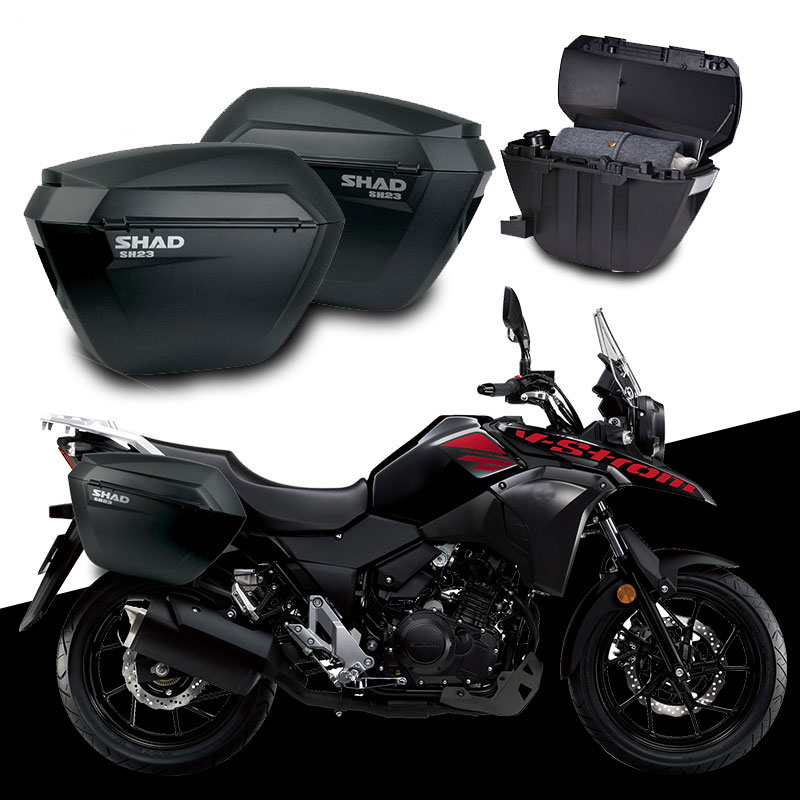 For Suzuki Dl250 Dl 250 Shad Sh23 Side Boxs+rack Set Motorcycle Luggage Case Saddle Bags Bracket Carrier System Sophisticated Technologies