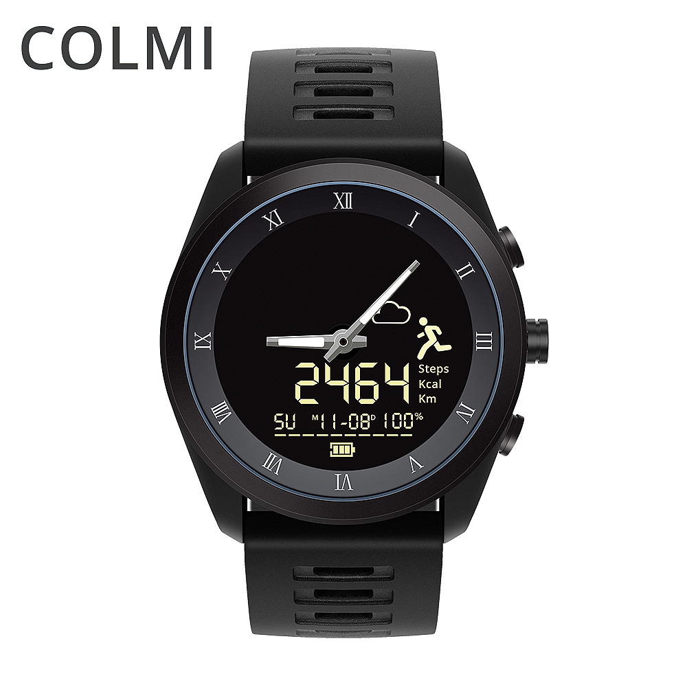 COLMI MIX 1 Smart Watch 5ATM Professional Waterproof Battery Life 365 Day Punch Hole Display Quartz Watch Full For Samsung Phone