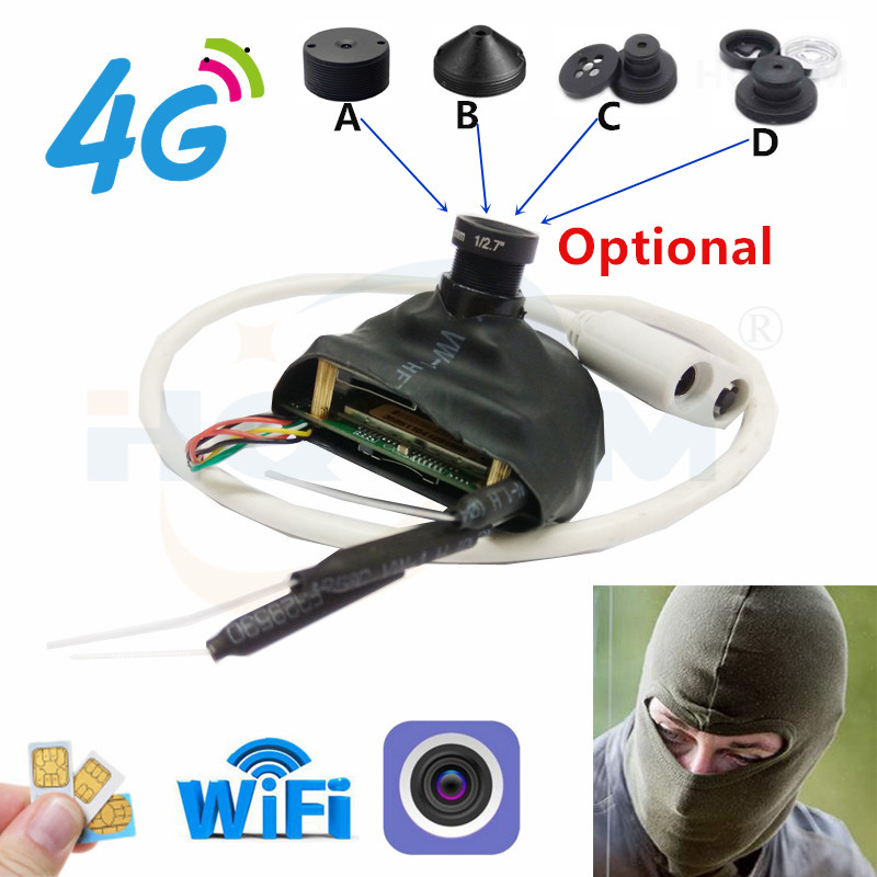 4G Pin Hole Camera 720P 1080P 1940P Wifi Mini IP Cameras P2P 3g Sim Card Wire Free CCTV For Villa Burglar Forest Room Detective