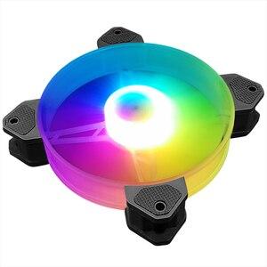 Image 5 - Кулер Coolmoon, 12 см, RGB, 5 В, музыкальный ритм, бесшумный, с корпусом, аура, синхронизация, с музыкальным управлением, кулер для воды, на заказ, 120 мм