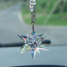 Car Pendant Crystal Meteor Decoration Hanging Ornament Charms Automobiles Interior Rearview Mirror S