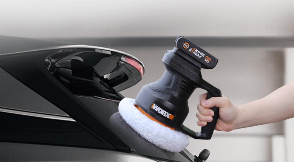 uses of Worx 20V Electric Car Polisher Machine