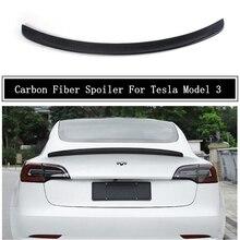 Спойлер из углеродного волокна для Tesla, модель 3 2019 2020 2021 2022, искусственное крыло высокого качества