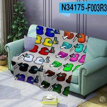 Диван кровать одеяла фланелевые флис ткань одеяло стильная футболка