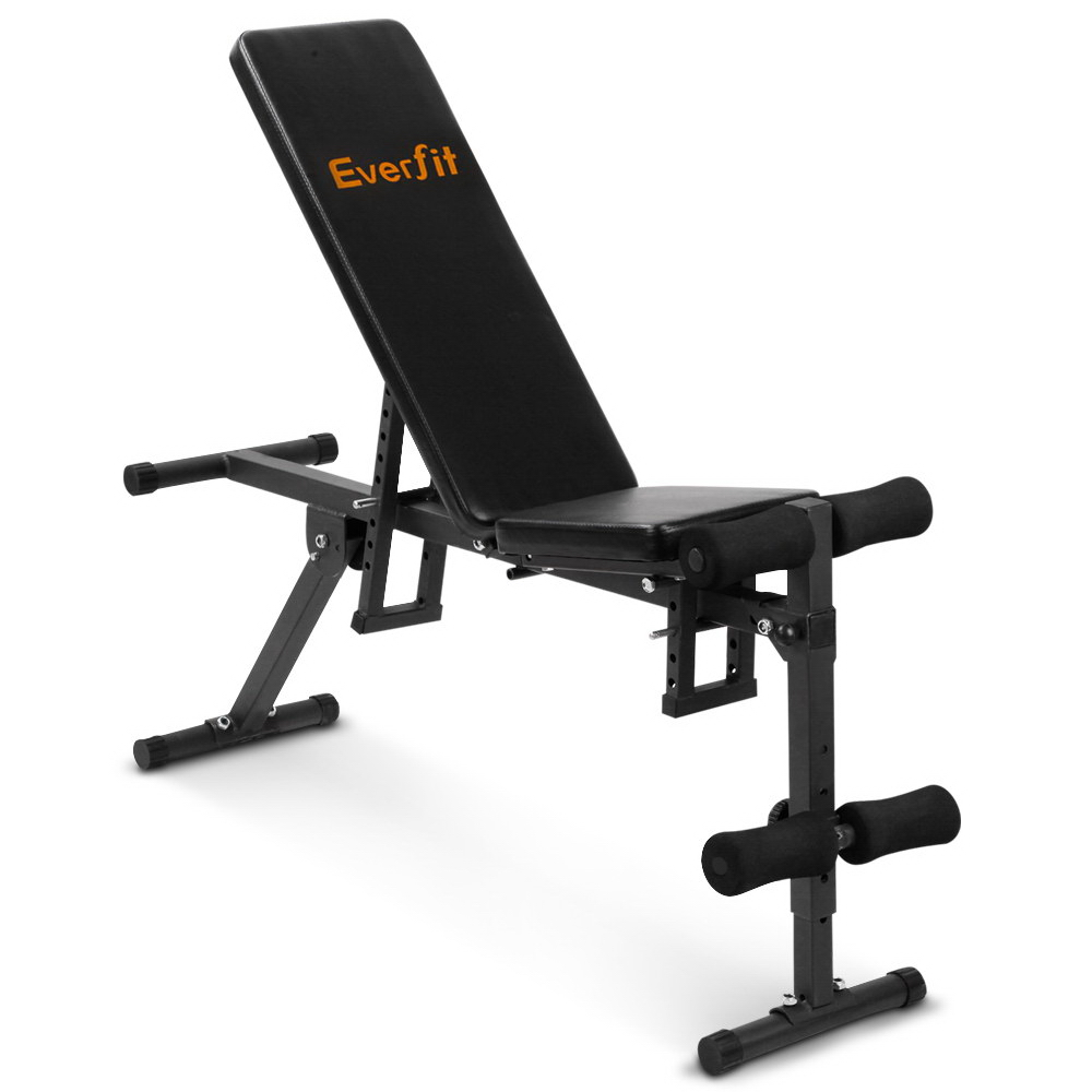 Everfit Adjustable FID Weight Bench Flat Incline Fitness Gym Equipment FIT-E-SEGA-FID-02 Suitable For Home Office