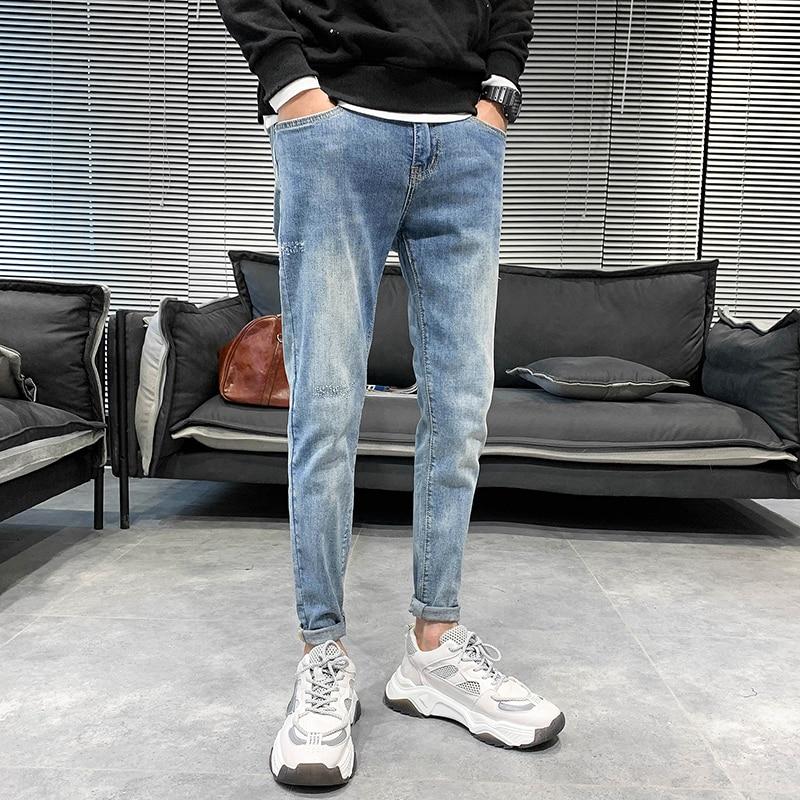 28 34 Musim Semi Baru Pria Jeans Fashion 2020 Slim Fit Jeans Celana Pria Semua Pertandingan Streetwear Celana Pria Hip Hop Pria Pakaian Jeans Aliexpress