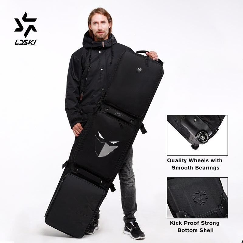 Ldski Ruote Sacchetto Sacchetto di Snowboard Team Serie Casco da Sci di Avvio Inverno Borsa da Viaggio Materiale Impermeabile Asciutto Bagnato Sezioni Separate - 2